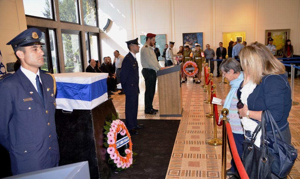 Israeli President Yitzhak Navon funeral at Beit Hanasi