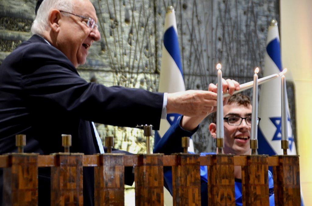Paralympics at Beit Hanasi for Hanukkah ceremony 50 years since Tel Aviv