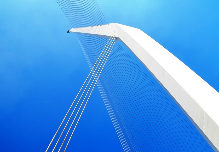 String Bridge top against blue sky