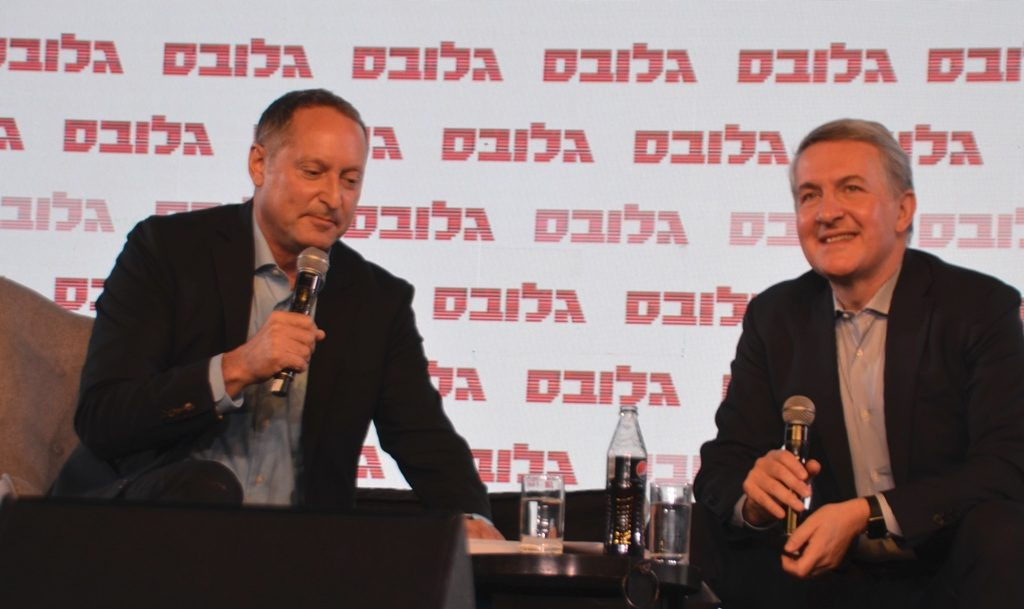 CEOs of Sodastream Daniel Birnbaum and Pepsico in Jerusalem