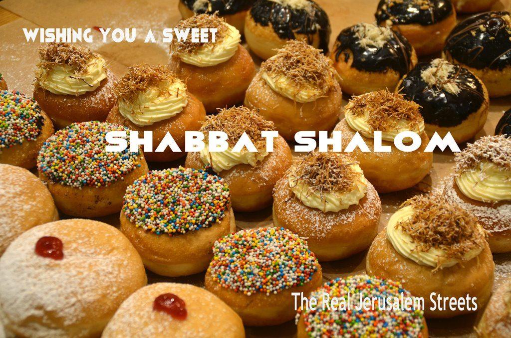 Shabbat shalom poster for Hanukkah