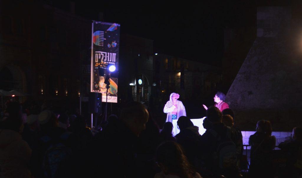 Hanukkah night festival in Old City