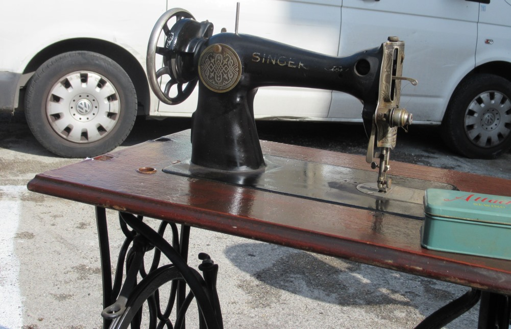 Singer sewing machine for sale on Jerusalem street