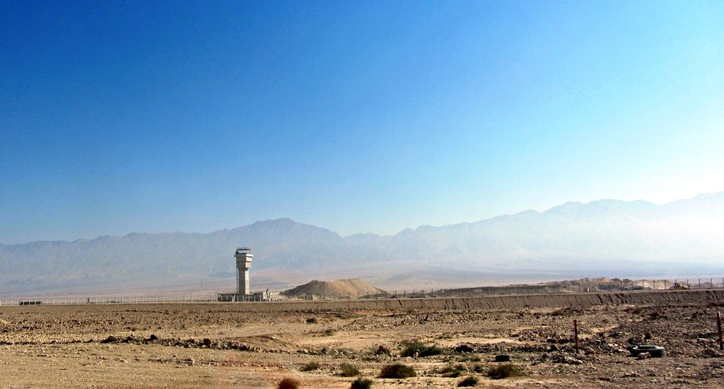 Tower of Ramon airport in Jan 2016