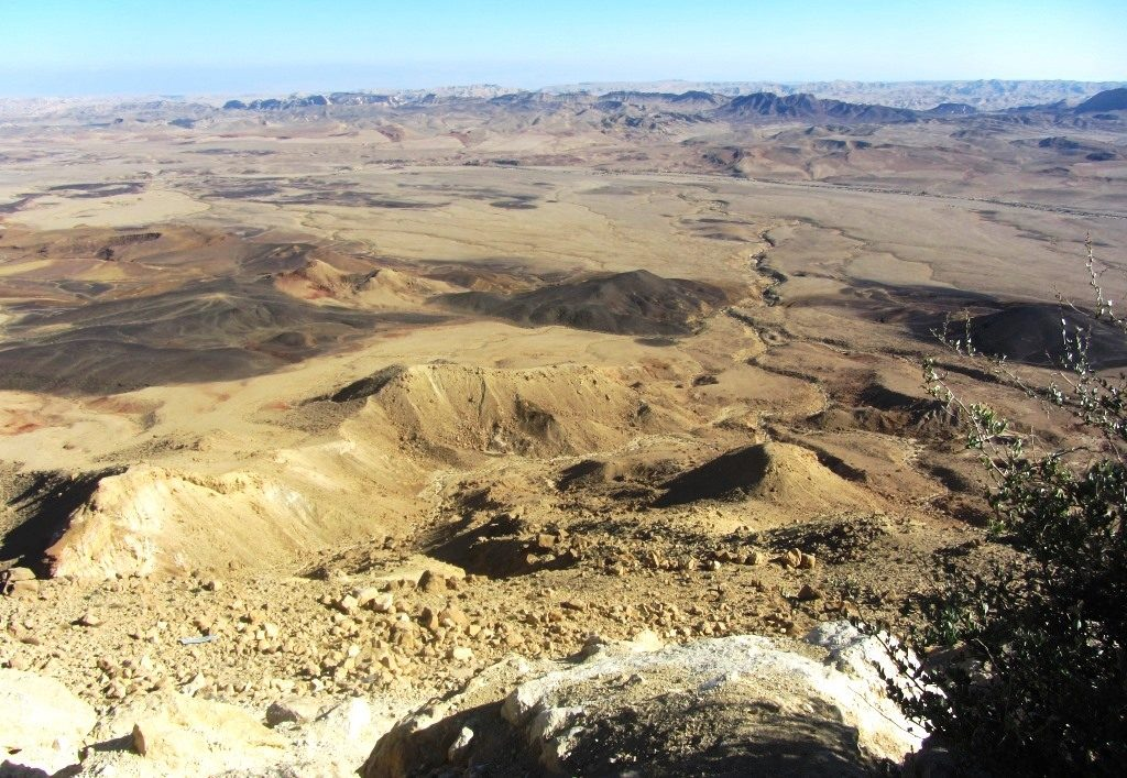 Ramon Crater on way to Eilat Israel