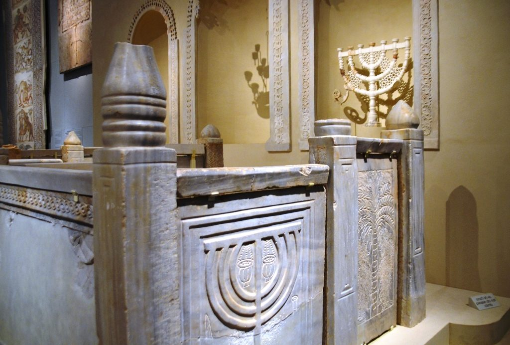 Israel Museum antiquities menorah from synagogues