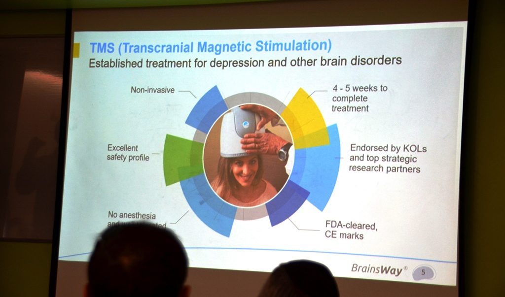 Slide from Brainsway treatment for depression