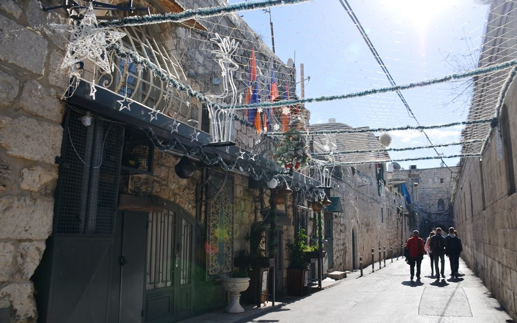 Jerusalem Christmas decorations