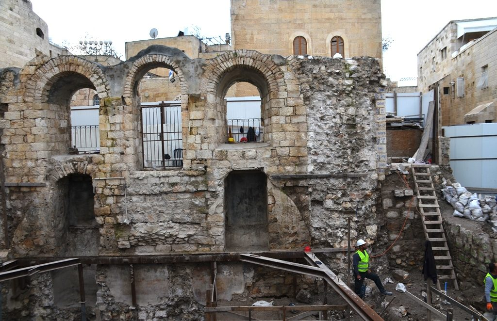 Inside Tiferet Yisrael Synagogue as rebuilding begins
