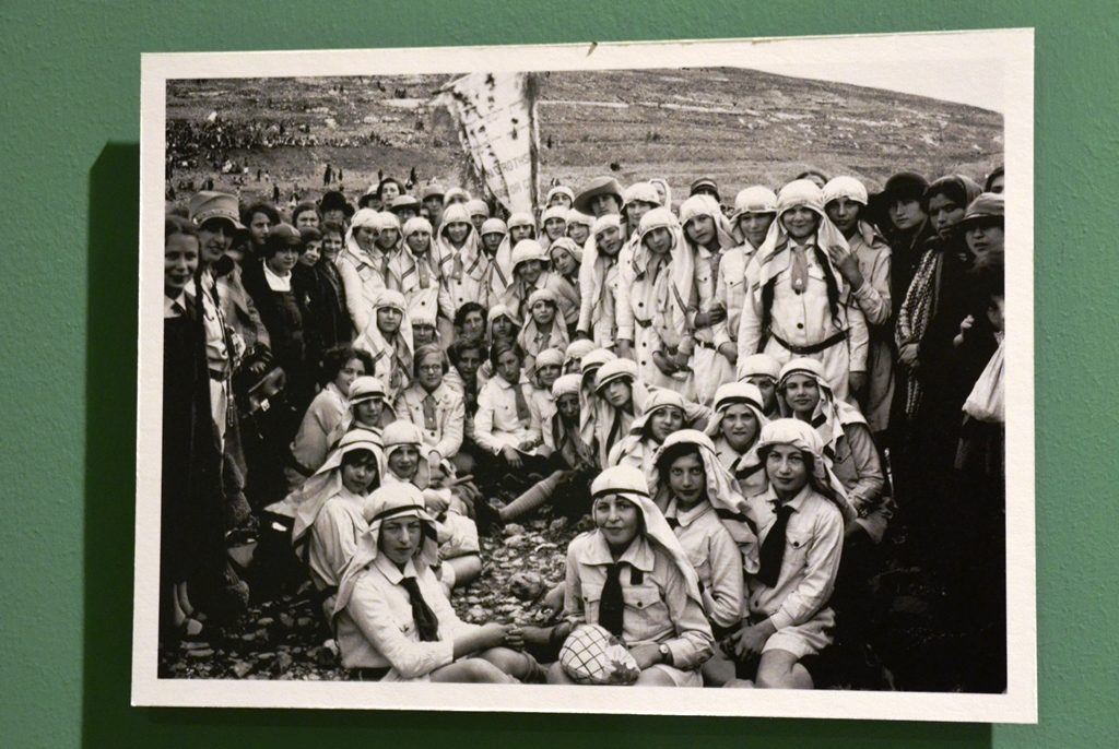 JNF 1928 photo of Girl Guides celebrating Tu Bishvat in jerusalem Beit Hakerem