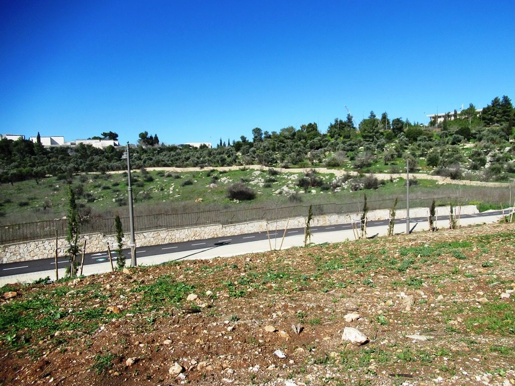 Jerusalem Israel new park development bike path to Gan Sacher