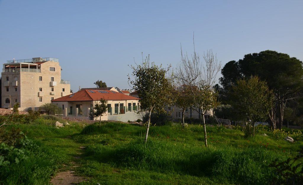 View near Hansen House in Jerusalem Israel