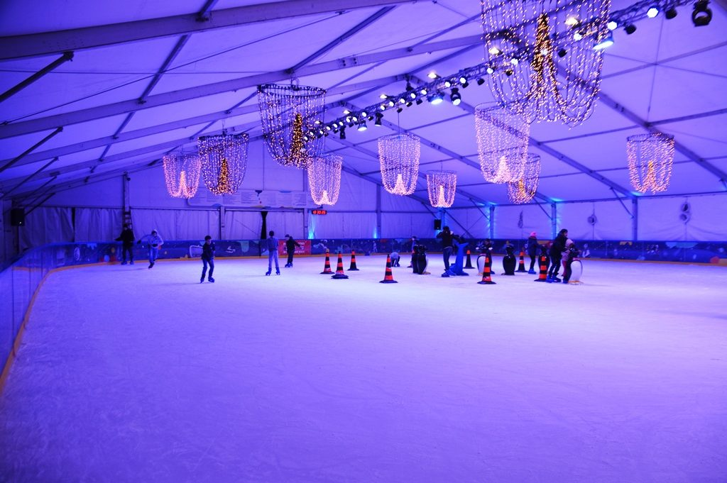 Jerusalem 2019 ice skating rink in park near Artist Colony