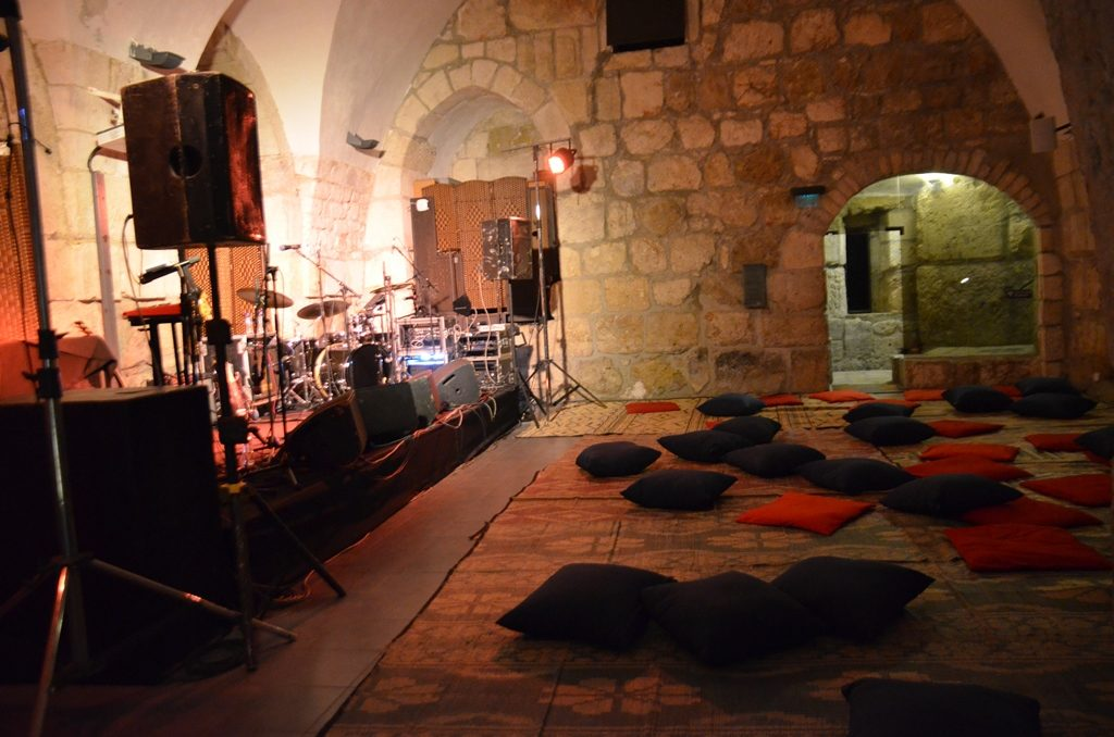 Winter Noise Festival music inside Tower of David hall Jerusalem