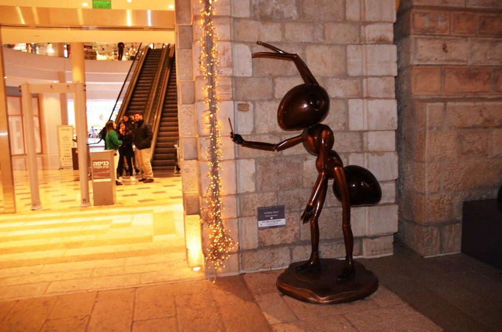 Art work in Mamilla Mall
