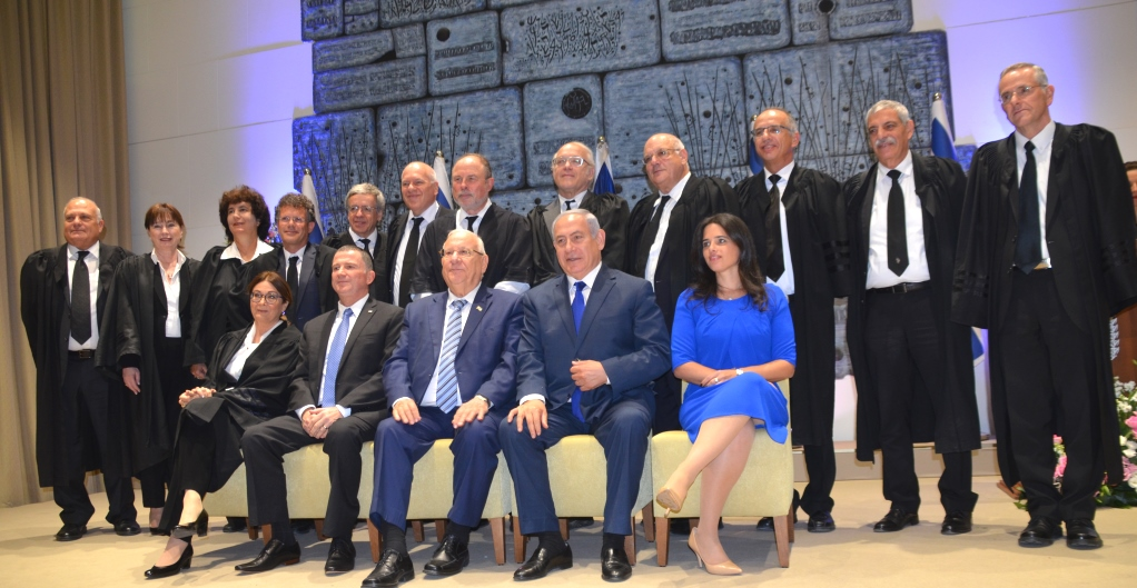 Supreme Court Israel judges at Israel President's Residence