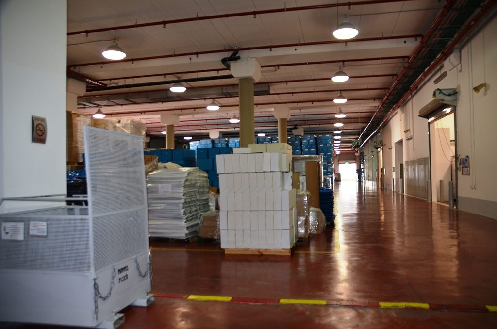 Logistic center for israeli elections in Shoham