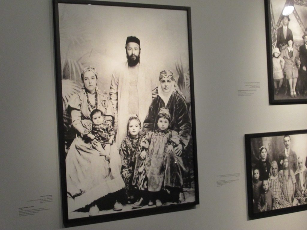 Photo in Israel Museum of Babayoff family from Bukhara who came by camel to Jerusalem