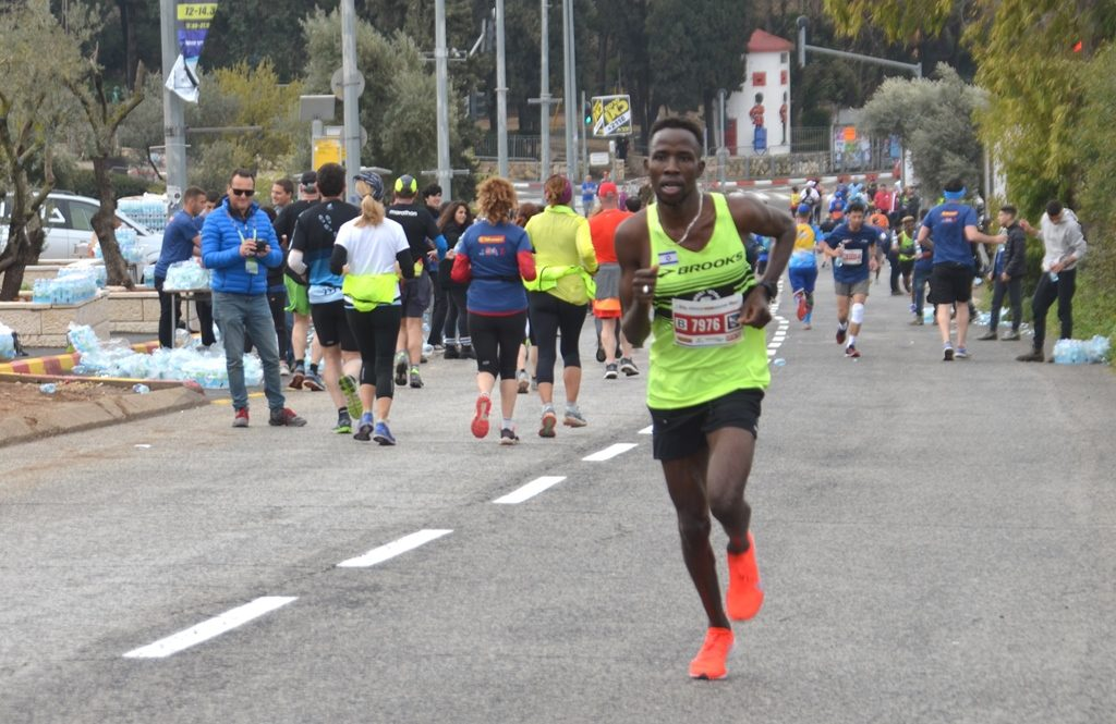 Second place Jerusalem half marathon