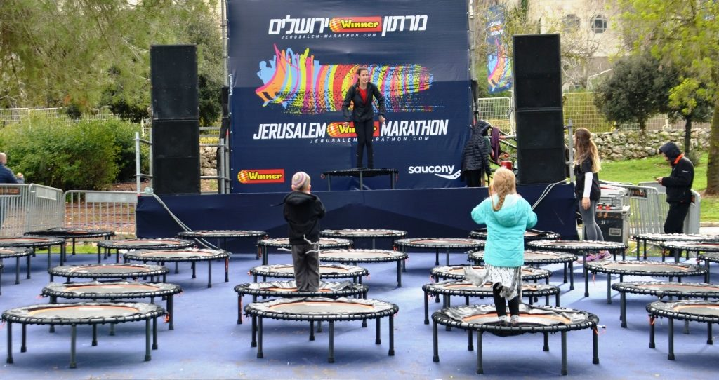 Activities in Sacher Park during Jerusalem marathon