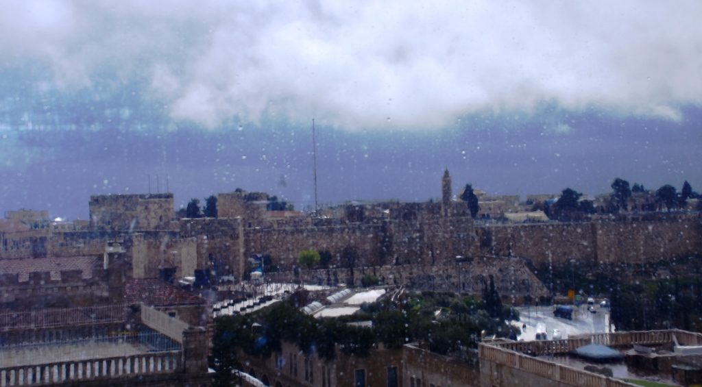 Stormy weather day before Jerusalem Marathon