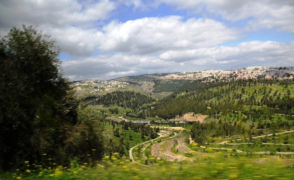View from Jerusalem Highway 1