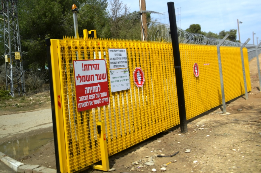Kibbutz Alumim security fence