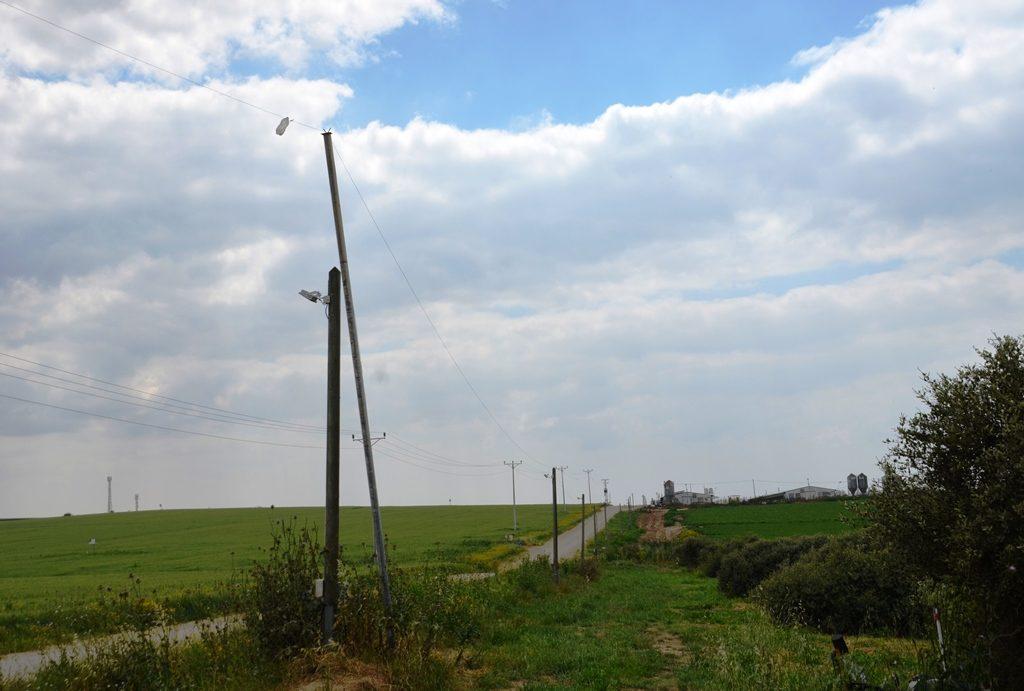 Kibbutz Alumim green fields southern Israel