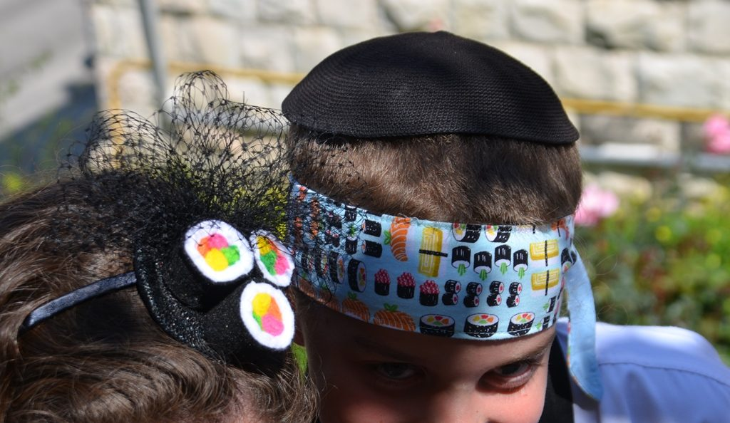 Sushi hats for Purim in Jerusalem