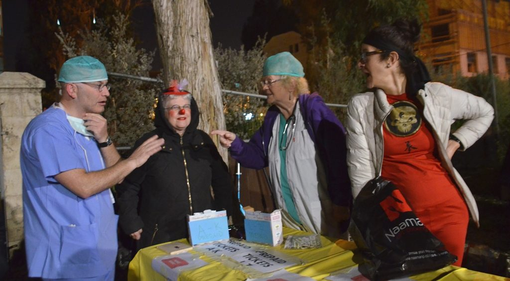 Doctors for Purim costumes in Jerusalem