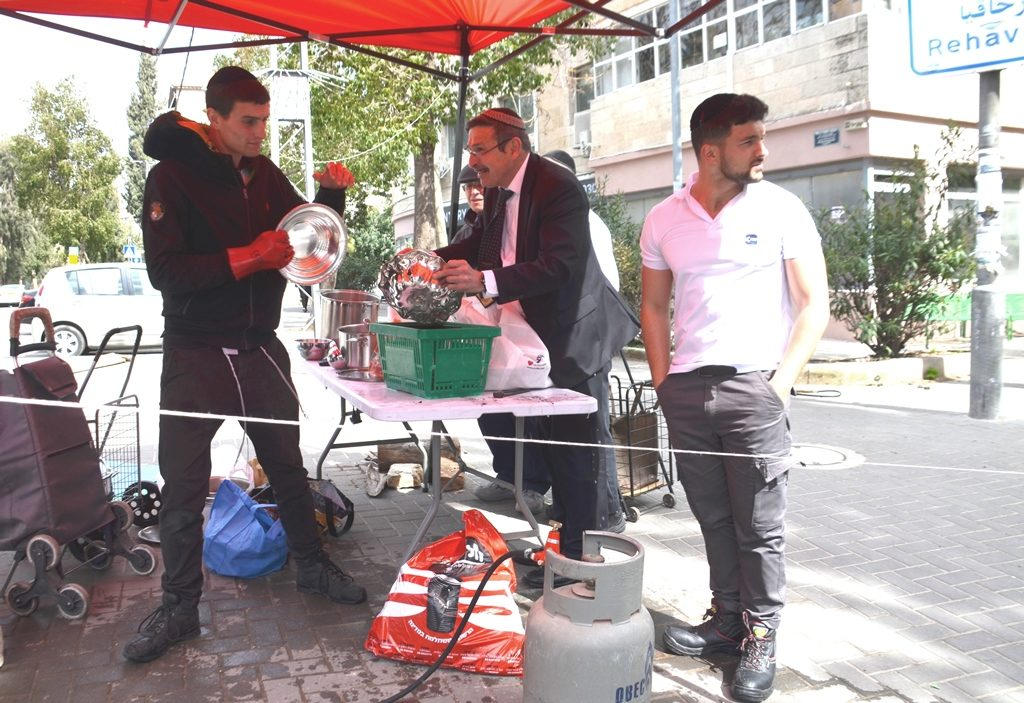 Jerusalem Israel Passover preparation on street