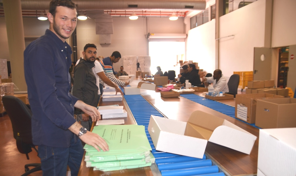 Packing boxes for Israel election