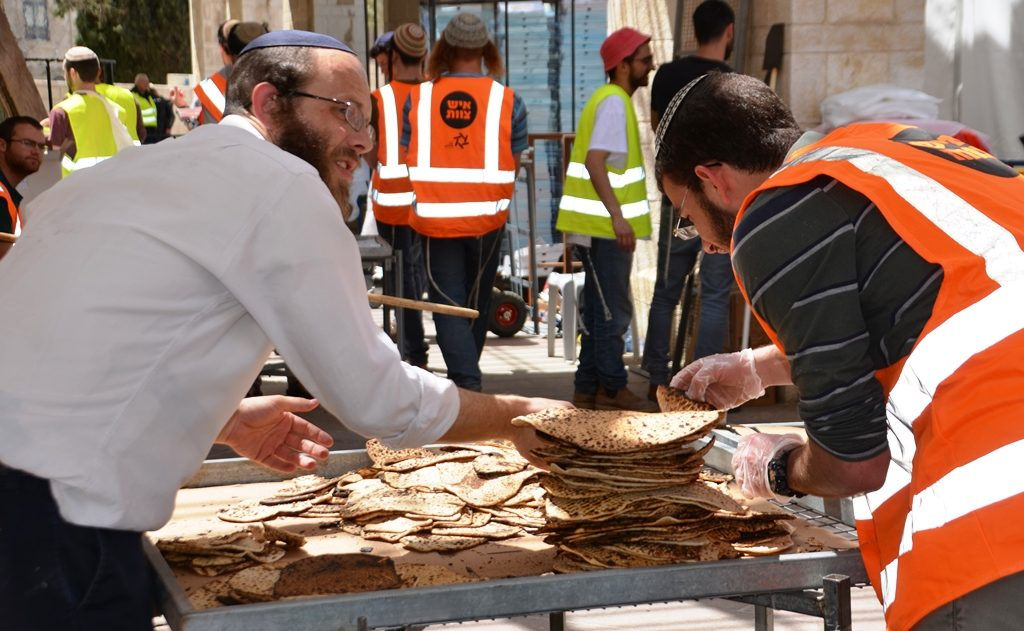 Examine each matza for Pesach in Jerusalem