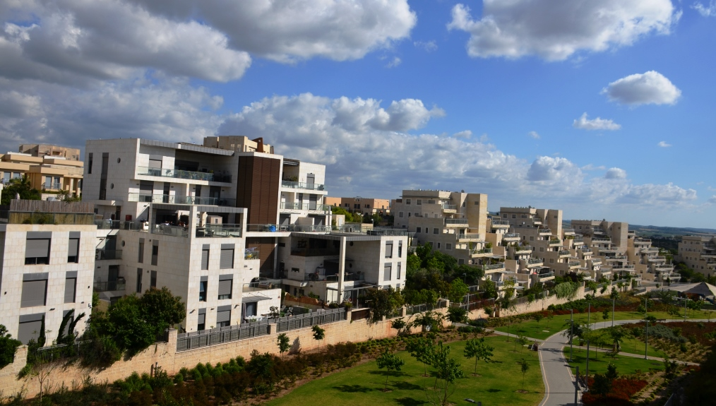 View of Modiin, Israel, new city built
