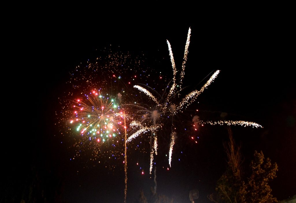 Fireworks at Har Herzl for Israel Independence Day