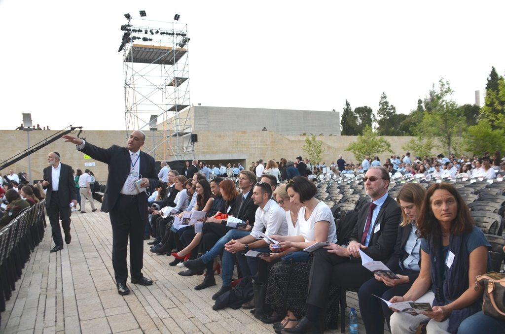 Group of German journalists for Holocaust Remembrance Day in Jerusalem Israel