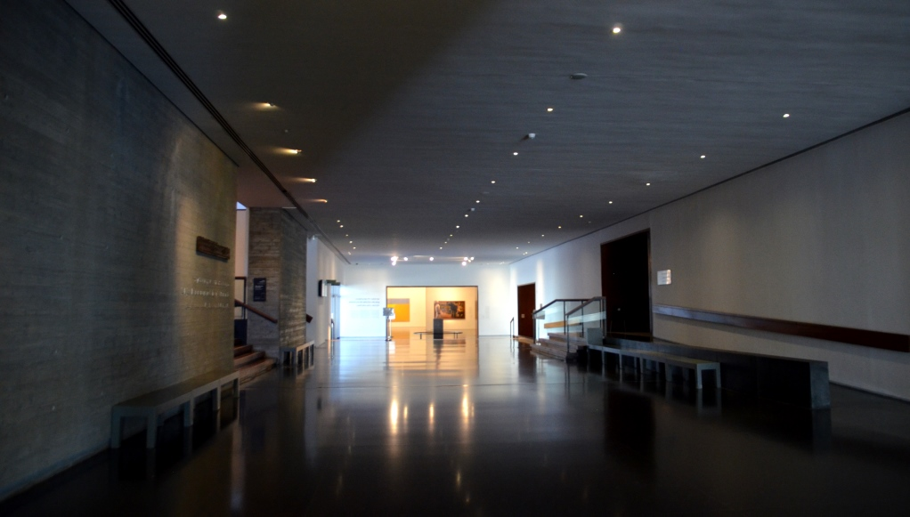 Israel Museum corridor without people