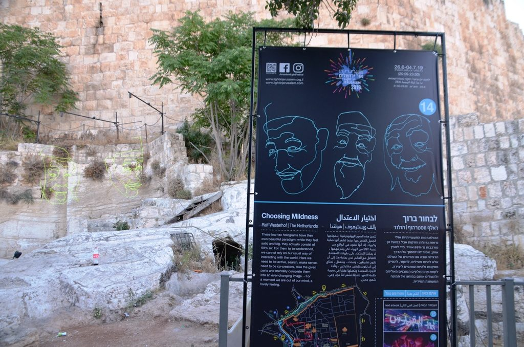 Jerusalem Light Festival sign