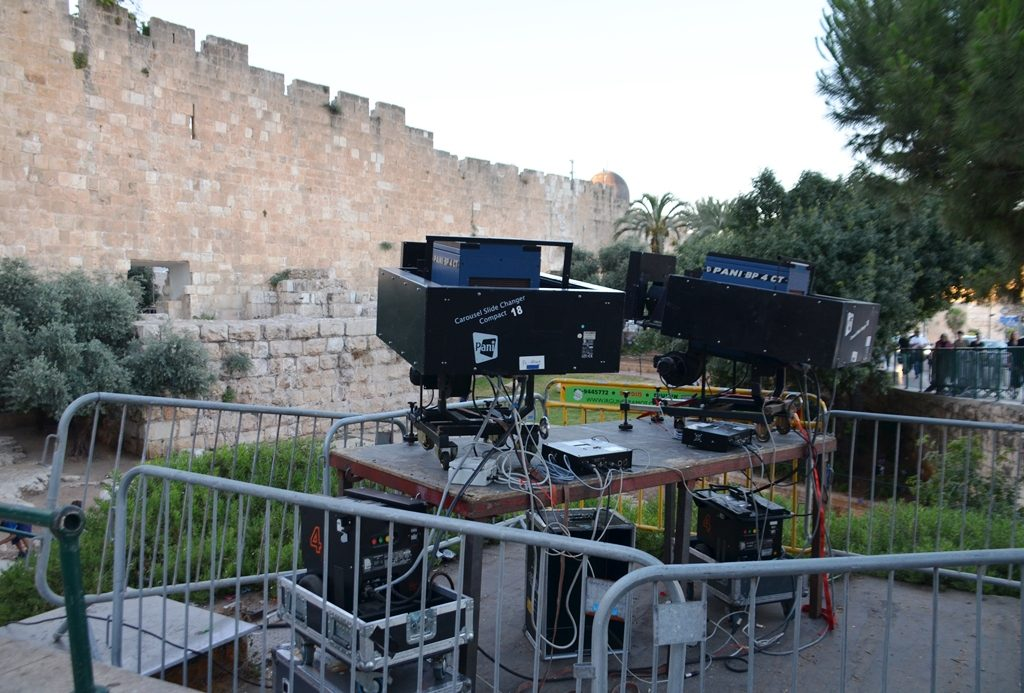 Equipment for Jerusalem light festival