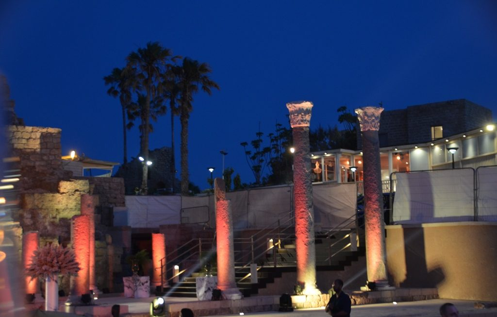 Lights go on at launch of Visitor center at Caesarea Isale