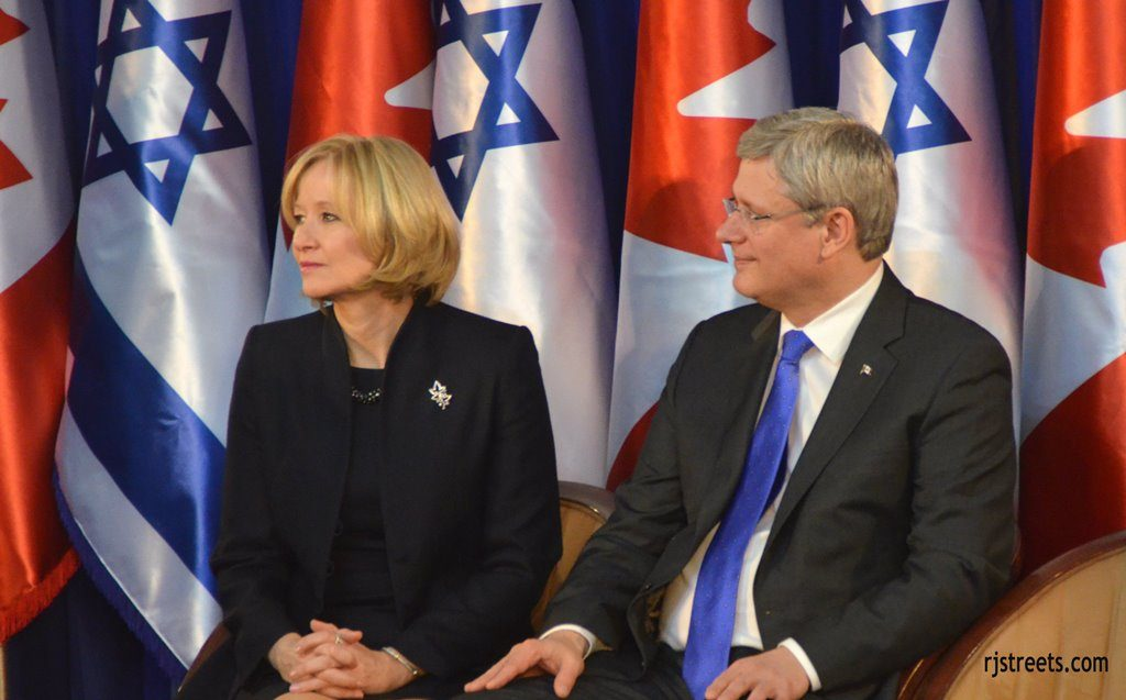 Jerusalem, Israel visit by Prime Minister Stephen Harper and his wife
