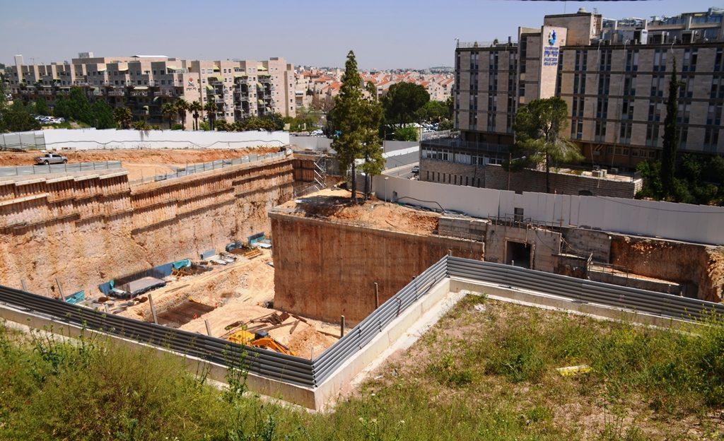 New building for Jerusalem hospital under construction