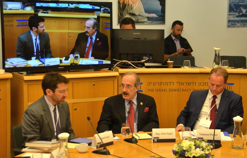 US Rep Eliot Engel in Jerusalem Israel with IDI and Brookings Institute