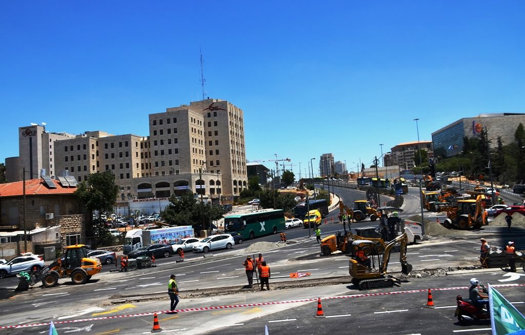 Sderot Shazar closed for Jerusalem Gateway Business Center