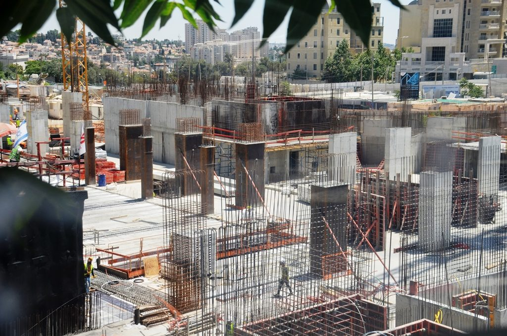 Jerusalem Israel construction site for Gateway Business Center