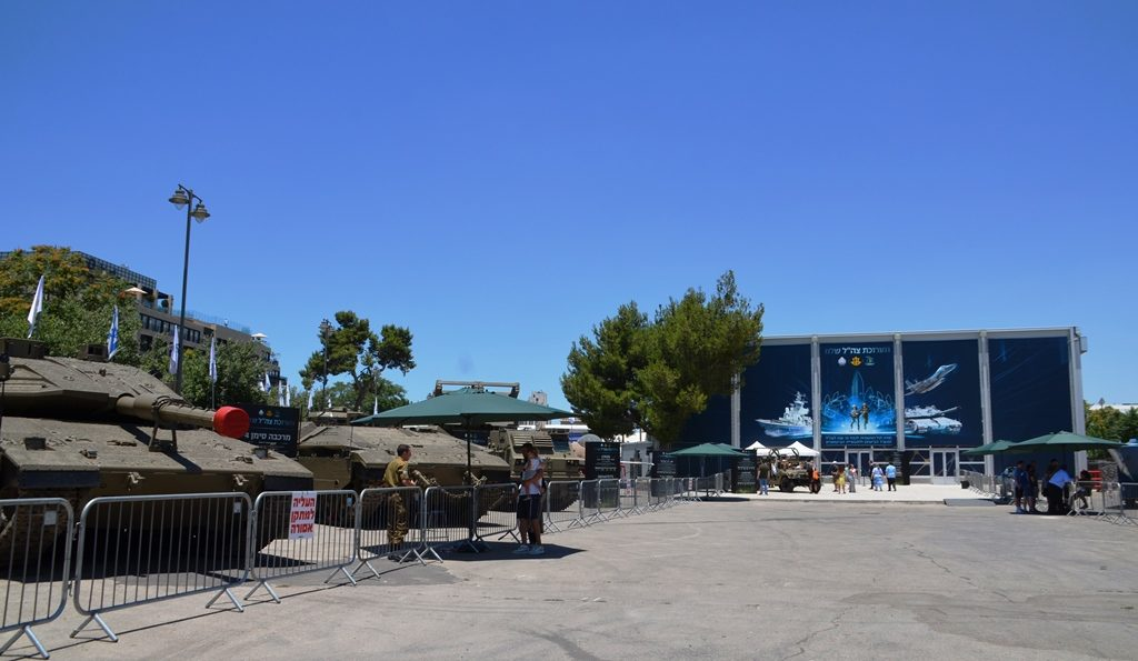 Jerusalem Israel First Station Hangar IDF exhibit