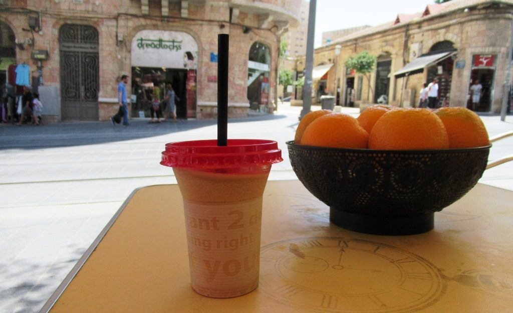 Jaffa Road Jerusalem Israel iced coffee in cate