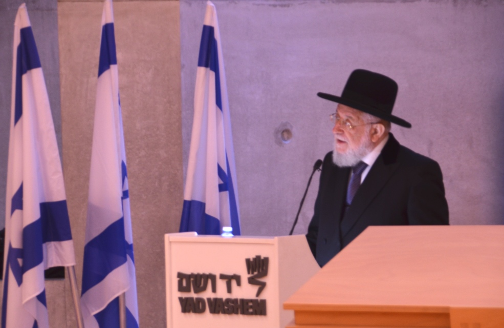 Rabbi Y M in Yad Vashem synagogue