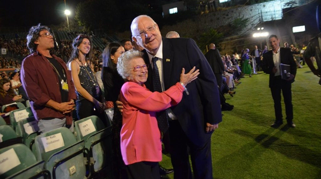 Dr Ruth and President Reuven Rivlin