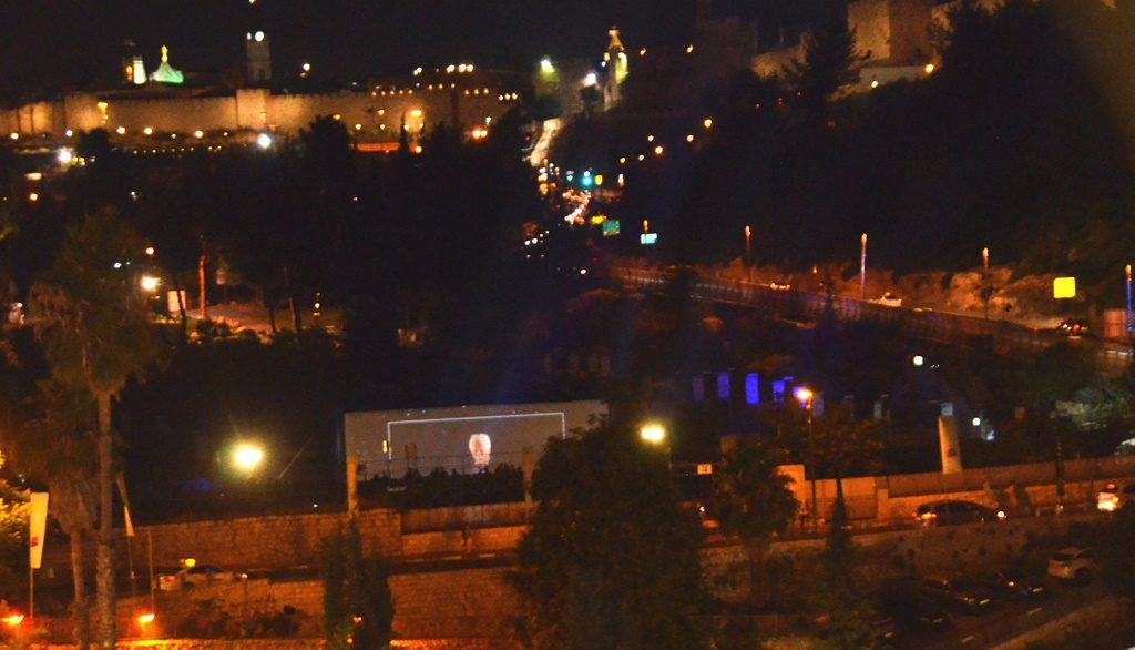 View from Cinematheque of Old City and Sultan's Pool at Jerusalem Film Festival